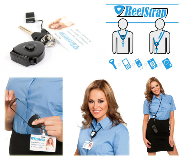 Reelstrap is better than a normal id badge lanyard or badge reel