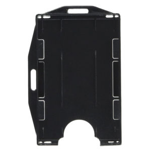 ID card holder dual sided black