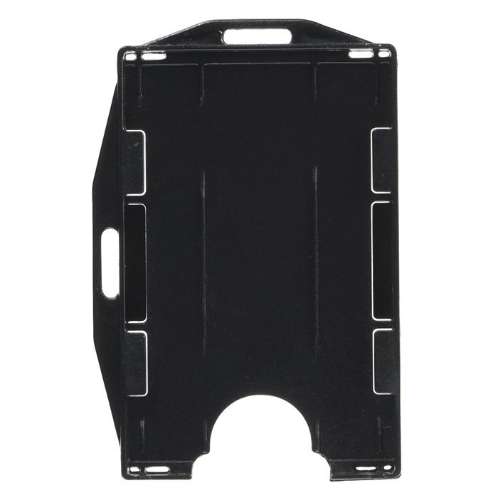 id card holder dual sided black - Plastic Id Card Holder